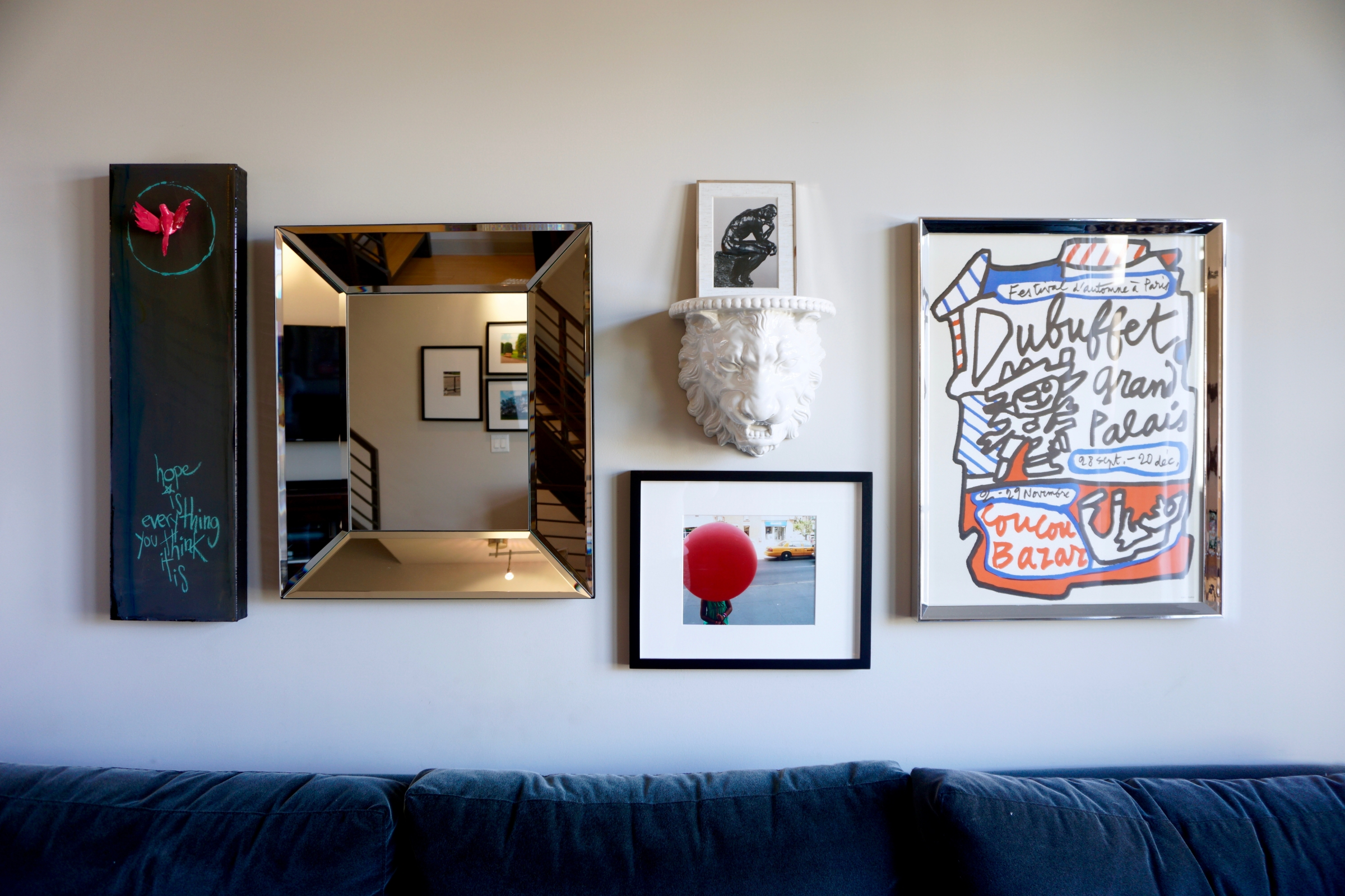 how to design an art gallery wall - living room -http://iamsherrelle.com